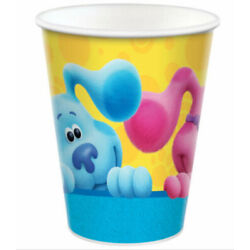 BLUES CLUES Happy Birthday Party supplies hot/cold PAPER CUPS 8pcs 9oz Magenta