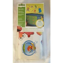 Sesame Street Peel and Stick Wall Decals: 45 Pieces: Removable & Repositionable