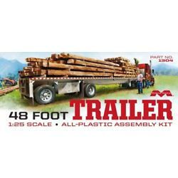 Moebius Forty Eight Foot Flatbed Trailer 1:25 scale model kit 1304