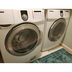 Kyпить Gently Used White/Silver Samsung Washer and Dryer Set White - Local PIck-up Only на еВаy.соm