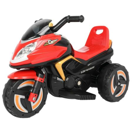 img-6V Battery Powered Motorcycle Trike Kids Ride-On Toy W/ Headlights Music Outdoor