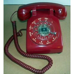 Kyпить VINTAGE WESTERN ELECTRIC RED ROTARY TELEPHONE GOOD WORKING CONDITION на еВаy.соm