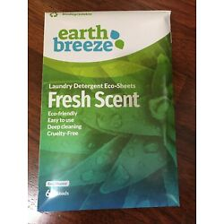 Earth Breeze-Liquidless Laundry Detergent Eco Sheets,Clean, Fresh Scent 60 Loads