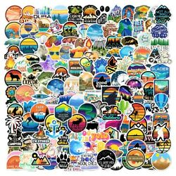 220 pcs Outdoor Stickers Cute Mountain Nature for laptop bumper decal camping