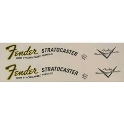 Fender Stratocaster waterslide decal 70's - CBS X 2