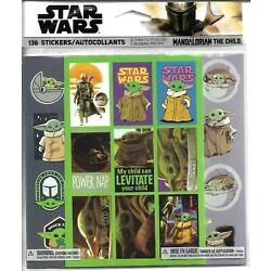 136 STICKERS Star Wars Mandalorian The Child 12 SHEETS 3 DESIGNS