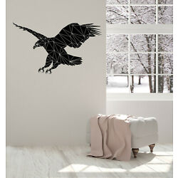 Vinyl Decal Wall Sticker Geometric Diagonal Picture Eagle Silhouette (n1444)
