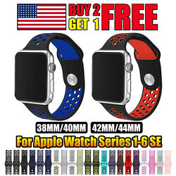 For Apple Watch Sport Band Silicone iWatch Series 6 SE 5 4 3 2 1 38/40/42/44mm