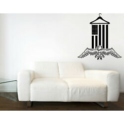Vinyl Decal Wall Sticker Flag Eagle Laundry Room Logo Cleaning Wash Dry (n1476)