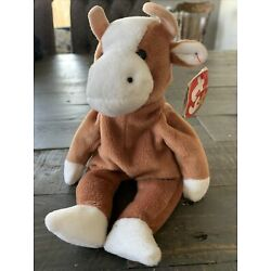TY BEANIE BABY 1995 Bessie The Brown Cow RETIRED