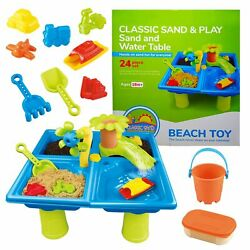 Classic Sand & Play Sand and Water Table for Kids, 24 Pc Set