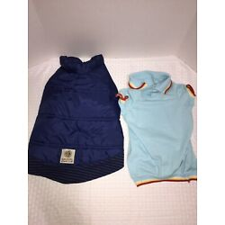 American Kennel Club Navy Blue Puffer Coat With Baby Blue Polo Shirt Large