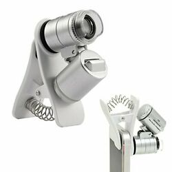 Cell Phone Microscope 60X Optical Zoom Clip On Smartphone Camera Lens Universal