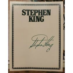 SIGNED STEPHEN KING BOOK PLATE NEW AUTOGRAPHED Horror Author It Shining Cujo