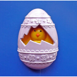 Avon FRAGRANCE GLACE Pin Vintage Easter CHICK A PEEP EGG Holiday Jewelry FULL
