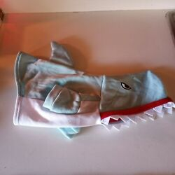 Halloween Dog Costumes Size Small Shark Light Blue And White Hoodie