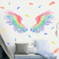 Wall Art stickers colorful Angel Wings sticker Wind photo Living,Bed room deco