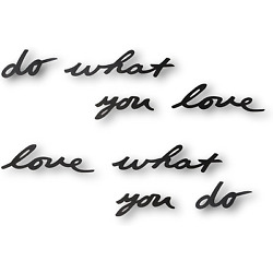 Umbra Mantra Décor Phrase   Do What You Love   Set of 8 Stamped Metal Words Quot