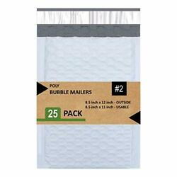 Sales4Less 2 Poly Bubble Mailers 8.5X12 Inches Padded Envelope Mailer Waterpr...