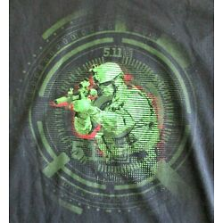 5.11 Tactical Mens XL Military Soldier Army Marines Seal Sniper Weapon T Shirt
