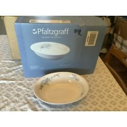 Pfaltzgraff Winter Frost Oval Serving Bowl.  10 In. Excellent Used Condition.