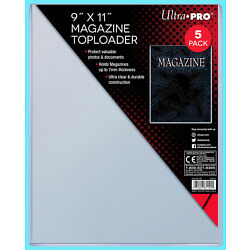 5 Ultra Pro 9''x11'' Thick Magazine Holder TOPLOADERS NEW Protector Document 7MM