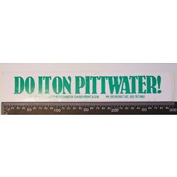 VINTAGE PITTWATER YACHT CHARTER CHURCH POINT NSW VIC ADVERTISING PROMO STICKER