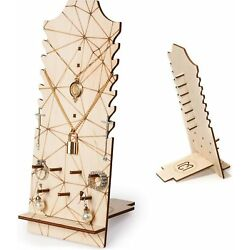 Jewelry Display Lightweight Wooden Freestanding Wooden Necklace Easel Display