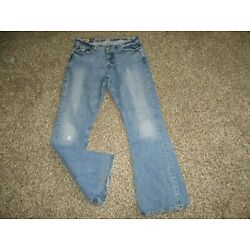 MENS ABERCROMBIE & FITCH BARSTAR FLARE JEANS sz 34x34 A&F