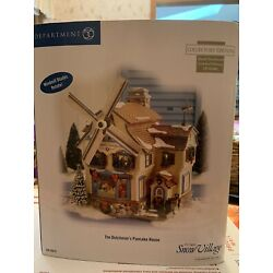 Department 56 Snow Village #55619   THE DUTCHMAN'S PANCAKE HOUSE NEW. NEVER USED