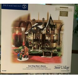 DEPT 56 SNOW VILLAGE MAYOR'S MANSION 55607 NUMBERED LIMITED EDITION  NEW IN BOX