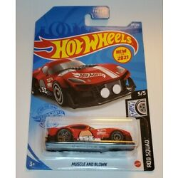 2021 Hot Wheels MUSCLE AND BLOWN #184/250 Rod Squad 5/5 (Red)