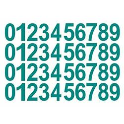 0-9 Numbers Teal Vinyl Sticker Decals Assorted Set of 40 Choose Size 1/2'' to ...