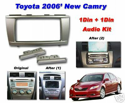 07 08 09 10 11 toyota camry two din radio dash kit made in japan ebay. Black Bedroom Furniture Sets. Home Design Ideas