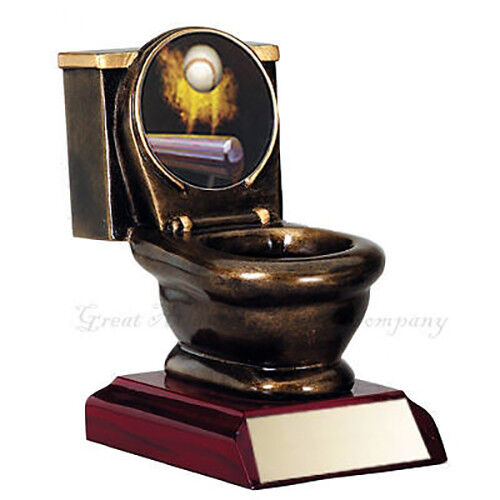 Last Place Fantasy Baseball Trophy Toilet Bowl Award Ebay