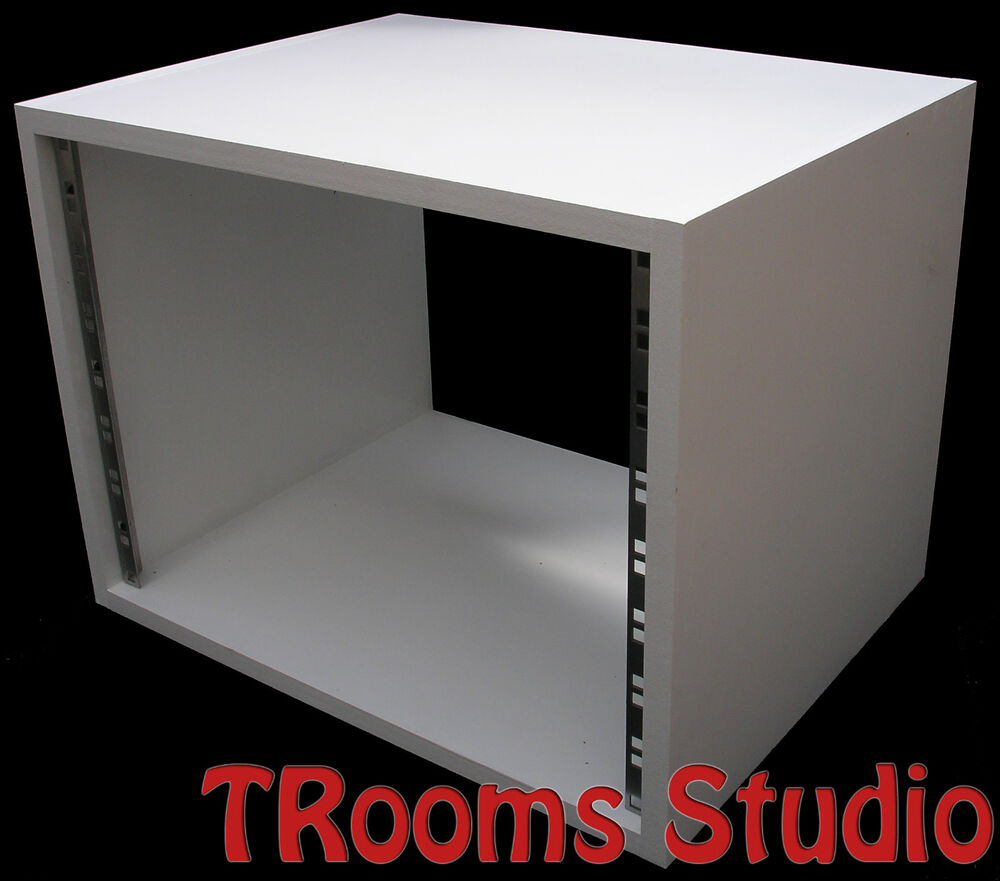 8u Unit 19 Inch Rack Cabinet Recording Studio Furniture In White Primer 400mm Ebay