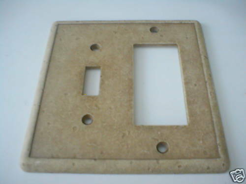 Decorative Wall Plate Cast Stone : Weybridge toggle combo stone switch plate swp a