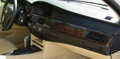 Bmw Oem Genuine E60 E61 Series 2004 2007 Dark Poplar Woodgrain Interior Trim Kit Ebay