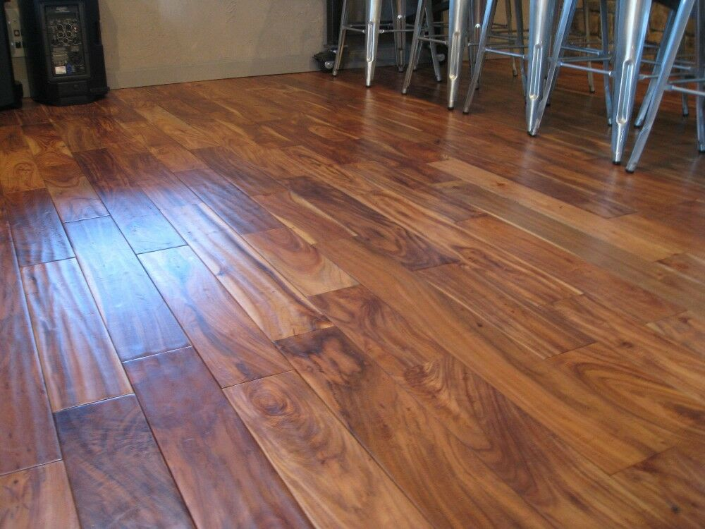 5 Acacia Walnut Handscraped Hardwood Wood Flooring Floor