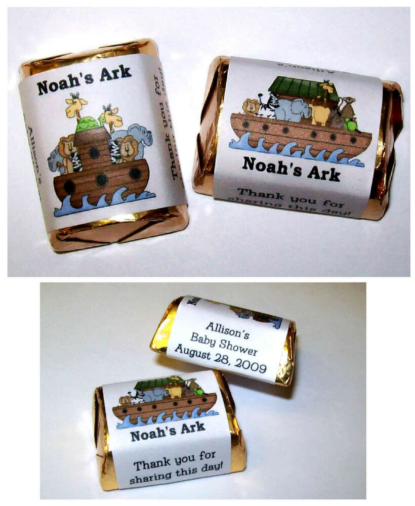 120 noah 39 s ark baby shower party favors candy wrappers ebay