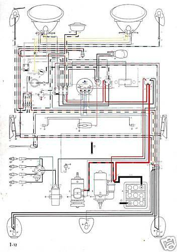 Volkswagen Wiring Diagram 1975 Beetle Super Beetle