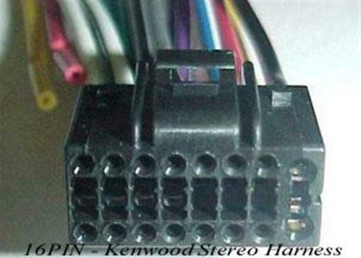 16 Pin Wiring Harness Kenwood : Kenwood wire harness pin aftermarket oem radio plug ebay