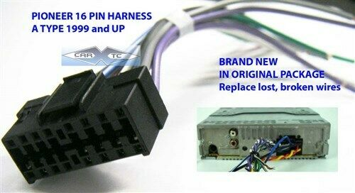 s l1000 pioneer wire harness 16 pin aftermarket radio 1999 up ebay Pioneer Deh P77DH Wiring Harness at readyjetset.co