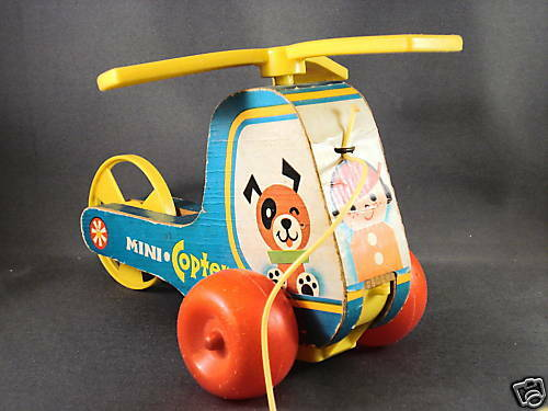 1970 S Toys : Vintage fisher price pull toy mini copter ebay