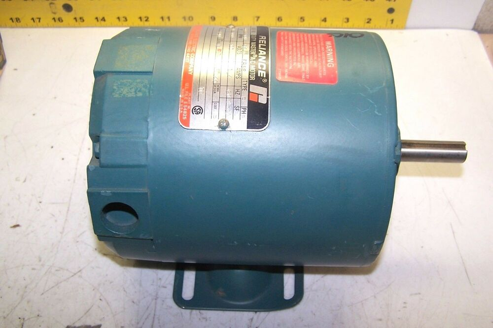 New Reliance 1 6 Hp Ac Electric Motor Frame 56 200 V 1800
