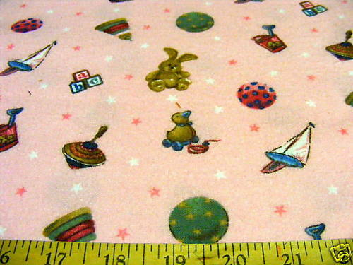 David textiles children 39 s toys flannel fabric bty ebay for Childrens fabric