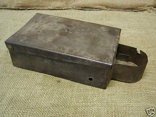 Tactor Tool Box : Vintage unmarked tractor tool box old antique parts ebay