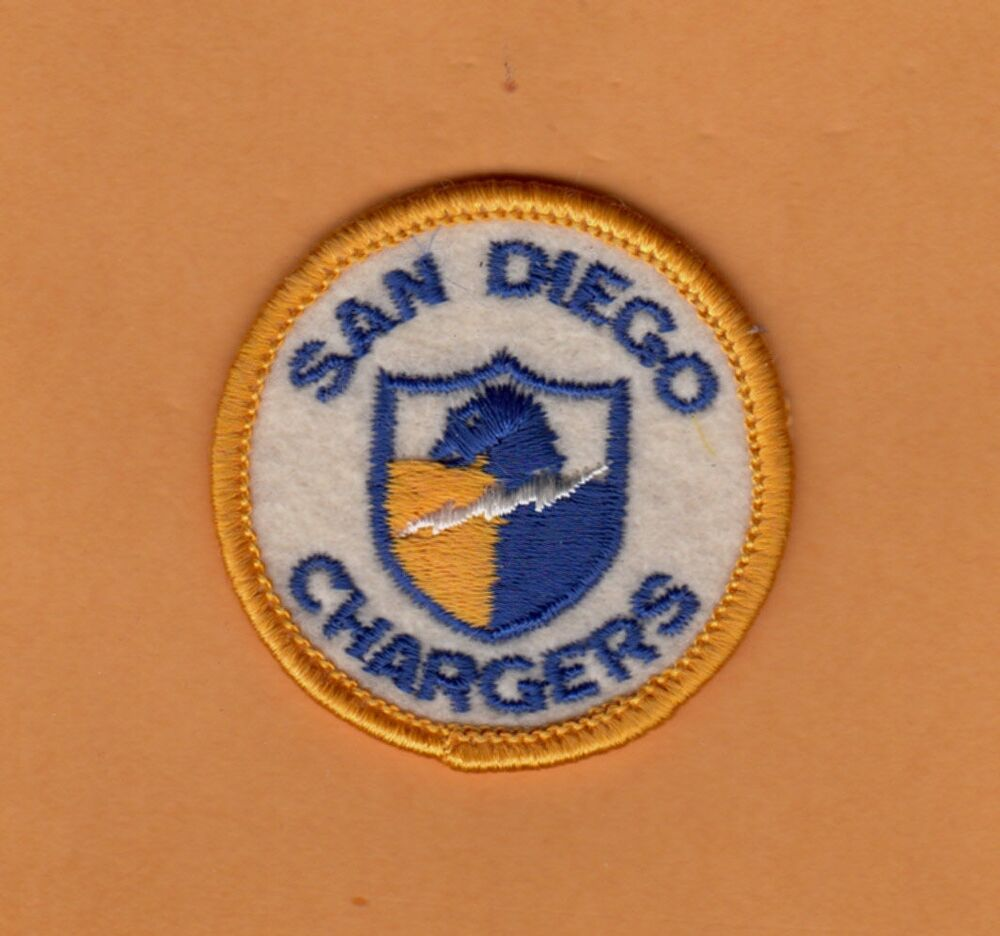 Late 1960s Old Afl Logo San Diego Chargers 2inch Patch