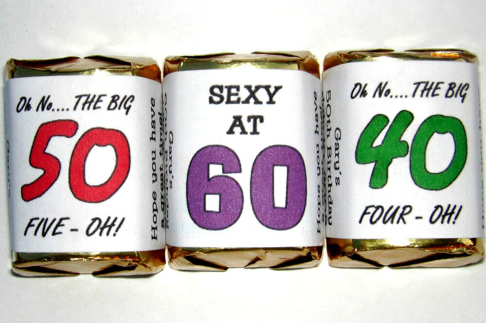50th birthday party favors candy wrappers or any age ebay for Garden 50 designs to help you destress