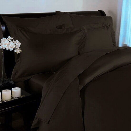 Hotel Modern 300tc Egyptian Cotton Solid Brown Duvet